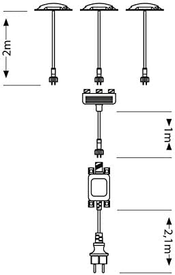ledscom.de LED Boden-Aufbauleuchte BUNDA, 1-Beam, Extra-Plano, para el Exterior, Aluminio, Negro, Redondo, 7cm Ø, Blanca fría, 6500K, Juego de 3