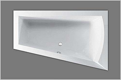Vasca Da Bagno Trapezoidale : Badewanne acryl trapez raumsparwanne links weiß 160x100cmx48cm
