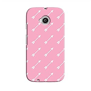Cover It Up Pink arrow Hard Case For Moto E2