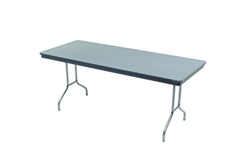 "AmTab - 366DL - Dynalite Featherweight Heavy-Duty ABS Plastic Folding Table, Rectangle, 36""W x 72""L x 29""H, Multiple Color Options Available"