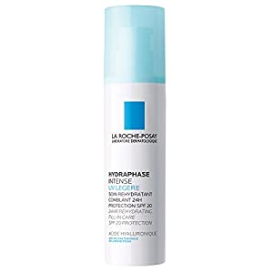 La Roche-Posay Hydraphase Intense UV Face Moisturizer with Hyaluronic Acid 24-hour, 1.69 Fl. Oz.