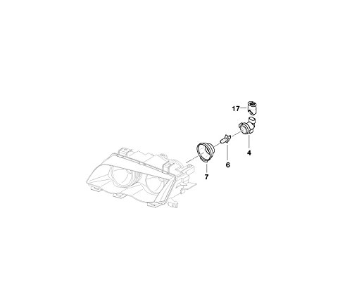 BMW Genuine Headlight Head Lamp Bulb Socket Holder E46 3 Series 63128380206