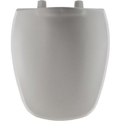 Bemis 1240200162 Eljer Emblem Plastic Round Toilet Seat, Silver