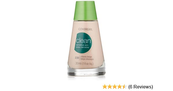 Amazon.com : CoverGirl Clean Sensitive Skin Liquid Makeup, Classic Beige (N) 230, 1.0-Ounce Bottles (Pack of 2) : Foundation Makeup : Beauty