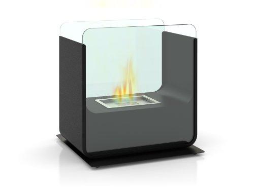 FireFriend DF-6501 Design Tisch-Kamin, Bio-Ethanol, schwarz