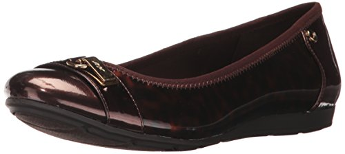 Brown Sport Shoe Flat (Anne Klein AK Sport Women's Able Synthetic Ballet Flat, Brown/Multi, 11 M US)