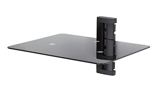 - AVF AS100-A Wall Mounted AV Component Shelving System - 1 Shelf, Black