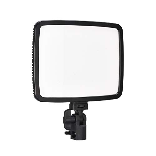 UTEBIT 24W LED Portrait Soft Light Dimmable with 2500 Lux CRI95+ Bi-Color 3200-5600K Ultra Thin Interview Lights Flat Panel with Stand Kit Shadowless for Photography Camera Studio Video News YouTube