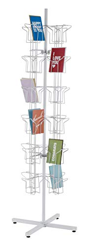 Rotating Greeting Card Rack - 48-Pocket (Card Greeting Stands)