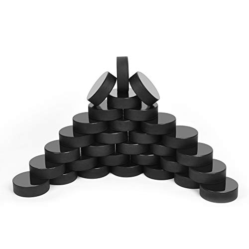 Ice Hockey Pucks for Practicing and Classic Training, Official Regulation, 6oz Diameter 3' Thickness 1' Black, Set of 25