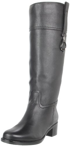 La Canadienne Womens Paulina Riding Boot Black Leather