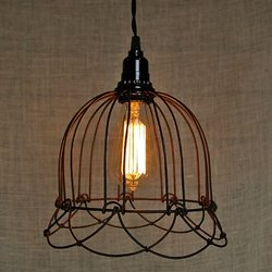 pendant light small wire bell lamp plug in
