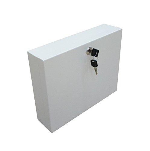Secure Steel Key Storage Cabinet 93 Keys Gray Box Garage Wall Organizer Lock NEW 15124 by FixtureDisplays (Image #1)