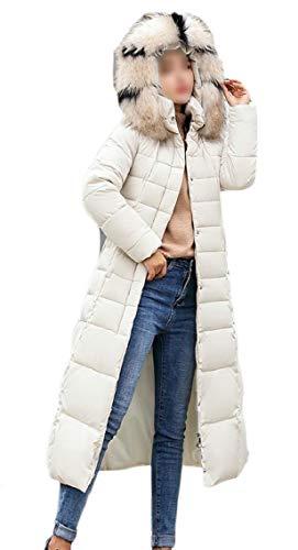 Cappotto Jacket Parka Women Puffer Coat Gocgt Bianco Lungo Felpe Down Warm awxxqT8