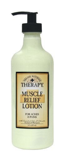 The Village Company Muscle Therapy Relief Natural Lotion, 16 Ounce by The Village Company
