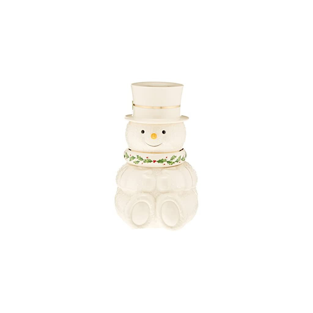 Lenox Happy Holly Days Snowman Candy Dish
