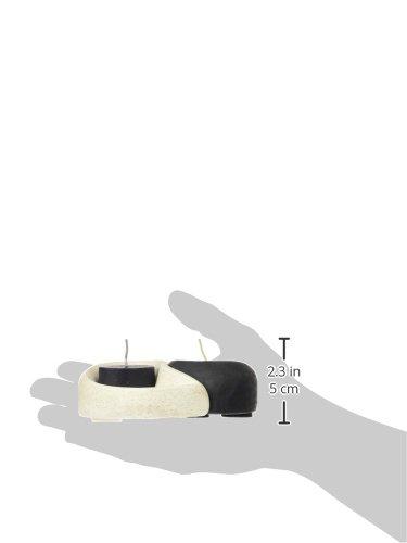 /Porta-velas Ying Yang Couleur Noir et Blanc laroom 12518/
