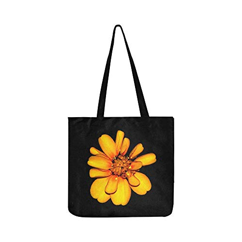 Marigold Flowers Orange Yellow Blossom Floral Canvas Tote Handbag Shoulder Bag Crossbody Bags Purses For Men And Women Shopping Tote
