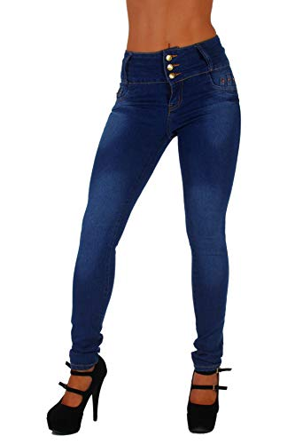 Style G339– Colombian Design, High Waist, Butt Lift, Levanta Cola, Skinny Jeans in Washed Blue Size 11 by Fashion2Love