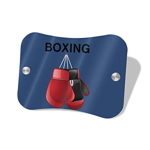 Anonymous Guest Door Sign Red Boxing Gloves Knock Softly Wood Decorative Sign5.57.5 in]()