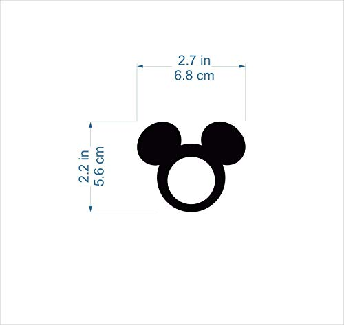 Mickey Mouse Ears Minnie Mouse with Bow Acrylic Napkin Ring Holders for Kids Birthday Party Decor Mickey Theme Party Favors Disney Decorations Tableware Cartoon Table Settings Clubhouse Cloth Napkins by FranJohnsonHouse (Image #2)