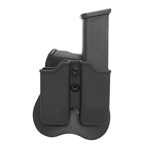 Details Holster (Smith and Wesson, Ruger, Sig Sauer Double Stack Magazine Holder Pouch Holster with Paddle, For 9mm, 0.40 Caliber. Fit more models under Beretta, Refer to Model Details and Photo to Determine Fit First)