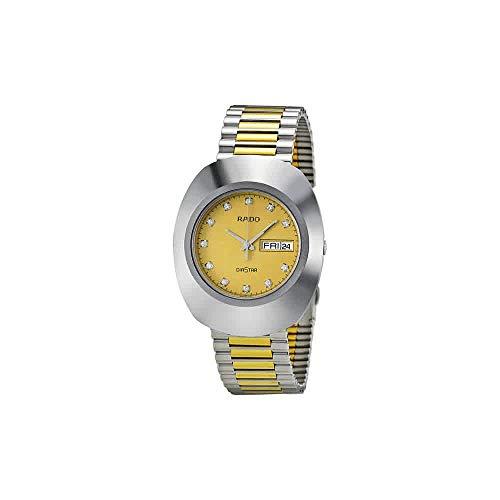 (Rado Quartz, Two Tone Stainless Band Yellow Dial - Men's Watch R12391633)
