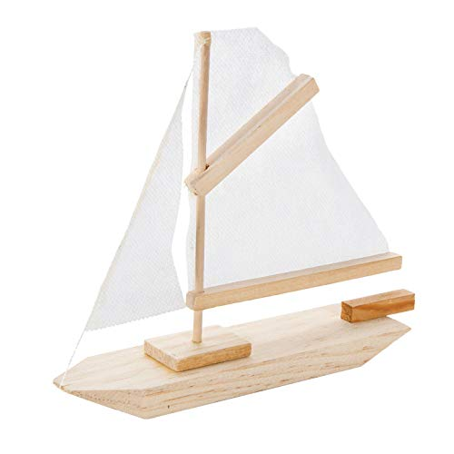 Bulk Buy: Darice DIY Crafts Wood Model Kit Sailboat 7 x 6 inches (6-Pack) 9169-04