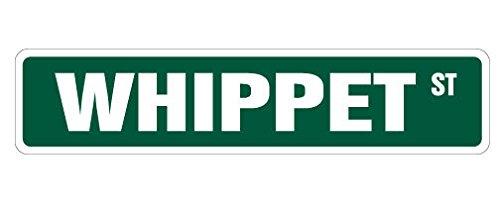 Whippet Street Sign Sticker Decal Dog Lover Great Gift Pet Idea Owner Breeder Veterinarian Sticker 2