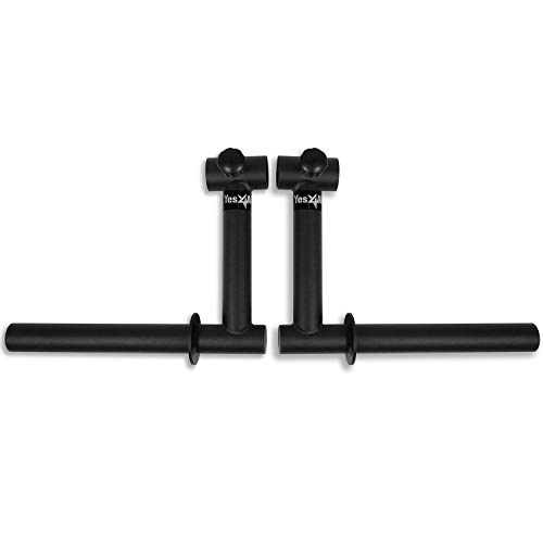 Yes4All Camber Bar Attachment - 2-inch Bars Cambered Bar Attachment (Pair) ()