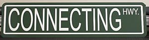 - Motown Automotive Design Connecting Hwy Highway METAL STREET SIGN 6X24 NYC New York City