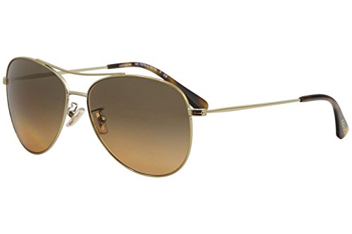 Coach Womens Sunglasses Gold/Grey Metal - Non-Polarized - 58mm