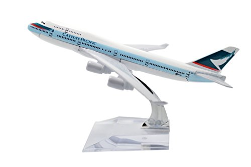 TANG DYNASTY(TM) 1:400 16cm Boeing B747-400 Cathay Pacific Airways Metal Airplane Model Plane Toy Plane Model