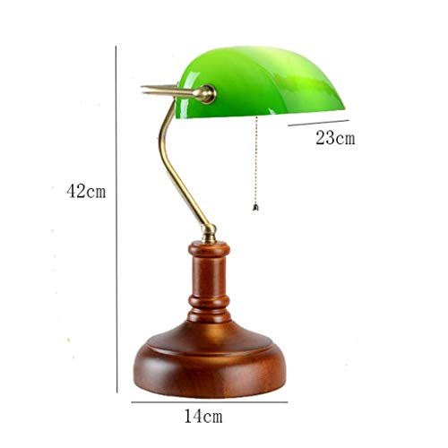 AOLIr Table Lamp European Bedroom Bedside Lamp Vintage Chinese Creative Wedding Wedding Decoration Light Study Classical Art American Antique Wooden Table Lamp,A