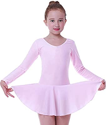 UK Girls Gymnastics Ballet Dance Dress Toddler Kids Leotard Tutu Skirt Costume