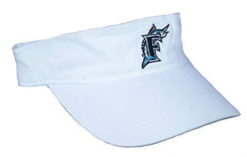 Genuine Merchandise Florida Marlins Adjustable Visor One Size Fits Most Hat Cap - White ()