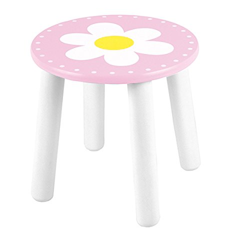 Children's stool with picture flower pink/white JaBaDaBaDo