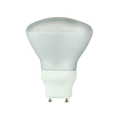 Satco S8224 15 Watt (65 Watt) 690 Lumens R30 Reflector CFL Soft White 2700K GU24 Base Light Bulb