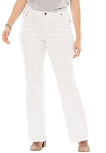 Low Rise Plus Size Jeans (Women's Plus Size Low-Rise Bootcut Jeans White,18 W)