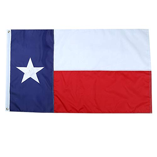 (Yafeco Texas State Flag 4x6 ft - Embroidered Star, Tough, Long Lasting Nylon Built for Outdoor Use, UV Protected and Sewn Using Quadruple Lock Stitching on Fly End)