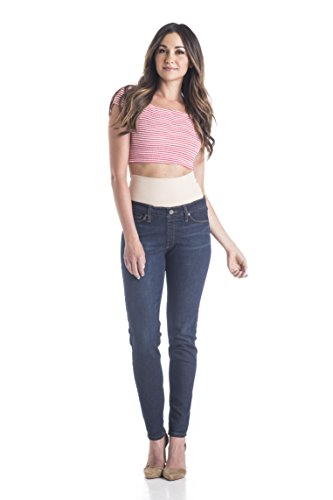 Tummy Trimmer Denim Women's Skinny Shapewear Jean, Dark Wash, 10