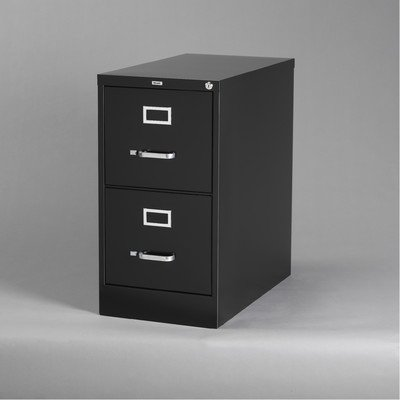 25'' Deep Commercial 2 Drawer Letter Size High Side Vertical File Cabinet Color: Black by CommClad