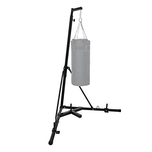 Happybuy Free Standing Boxing Bag Stand Foldable Single Station Heavy Bag Stand for Home Fitness (Black)