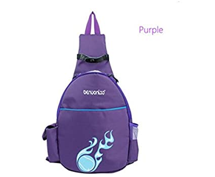 Color:Purple # Waterproof Tennis Rackets Backpack Outdoor Single Shoulder Sport Fitnees Mochilas by shopidea
