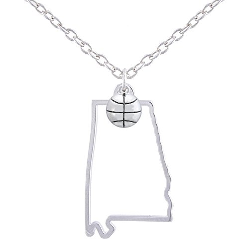 GIMMEDAT State of Mine: Alabama Basketball Silver Necklace
