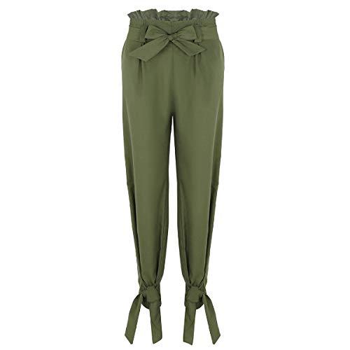 Pantalón Pantalones Para Alta Mujer Party Cinturón Ladies Elásticos PqcPOXpfUW