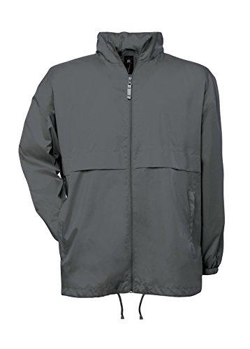 B y C para hombre Air Collection forrado rompevientos chaqueta con cremallera pl gris oscuro
