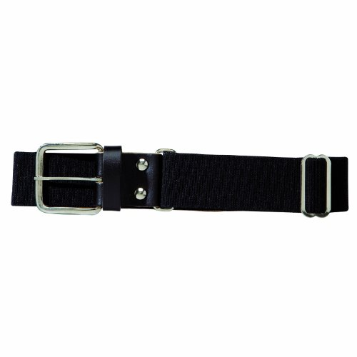 Franklin Sports Youth Baseball and Softball Belt - MLB Leather Belt - Black