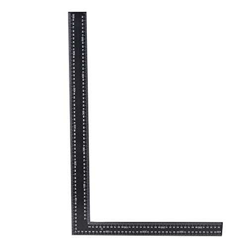 Simple to Use Aluminum Easy to Use L-Square Ruler, Try Square, for Construction Marking Tools Carpentry Hardware(black)