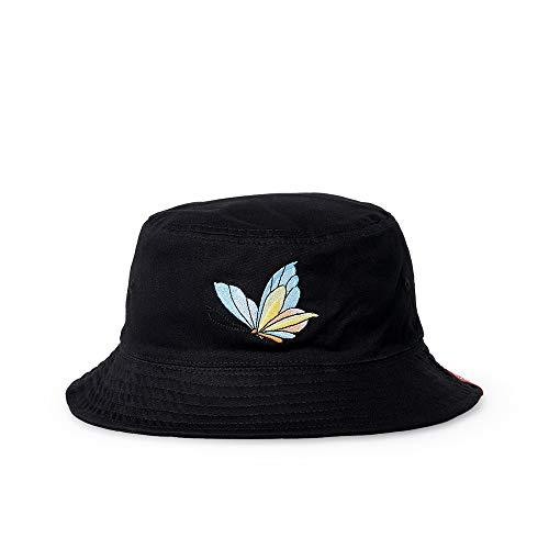 Bucket Butterfly Hat - DianaWu Unisex Bucket Hat Summer Fishman Cap Sun Cap (Butterfly-Black)